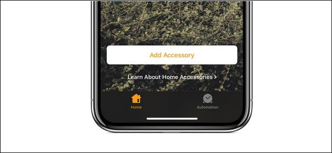 """The """"Add Accessory"""" button in the Apple HomeKit app."""