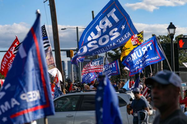 Trump Flags Gettyimages 1228916797